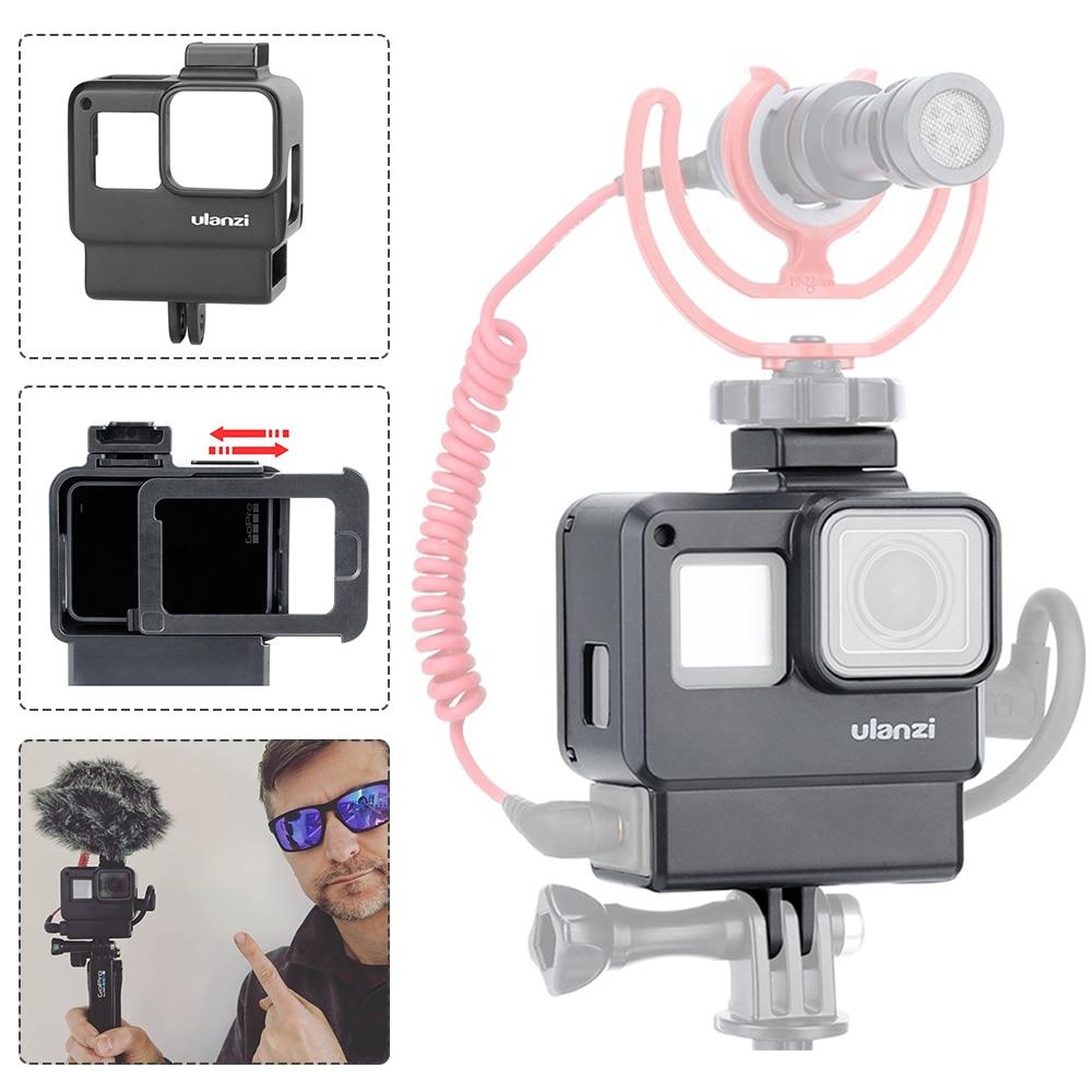 Чехол ULANZI V2 V2 Pro Vlog для GoPro V3 V3 Pro Vlogging Cage с креплением на холодную башмак с микрофоном для GoPro Hero 7 6 5