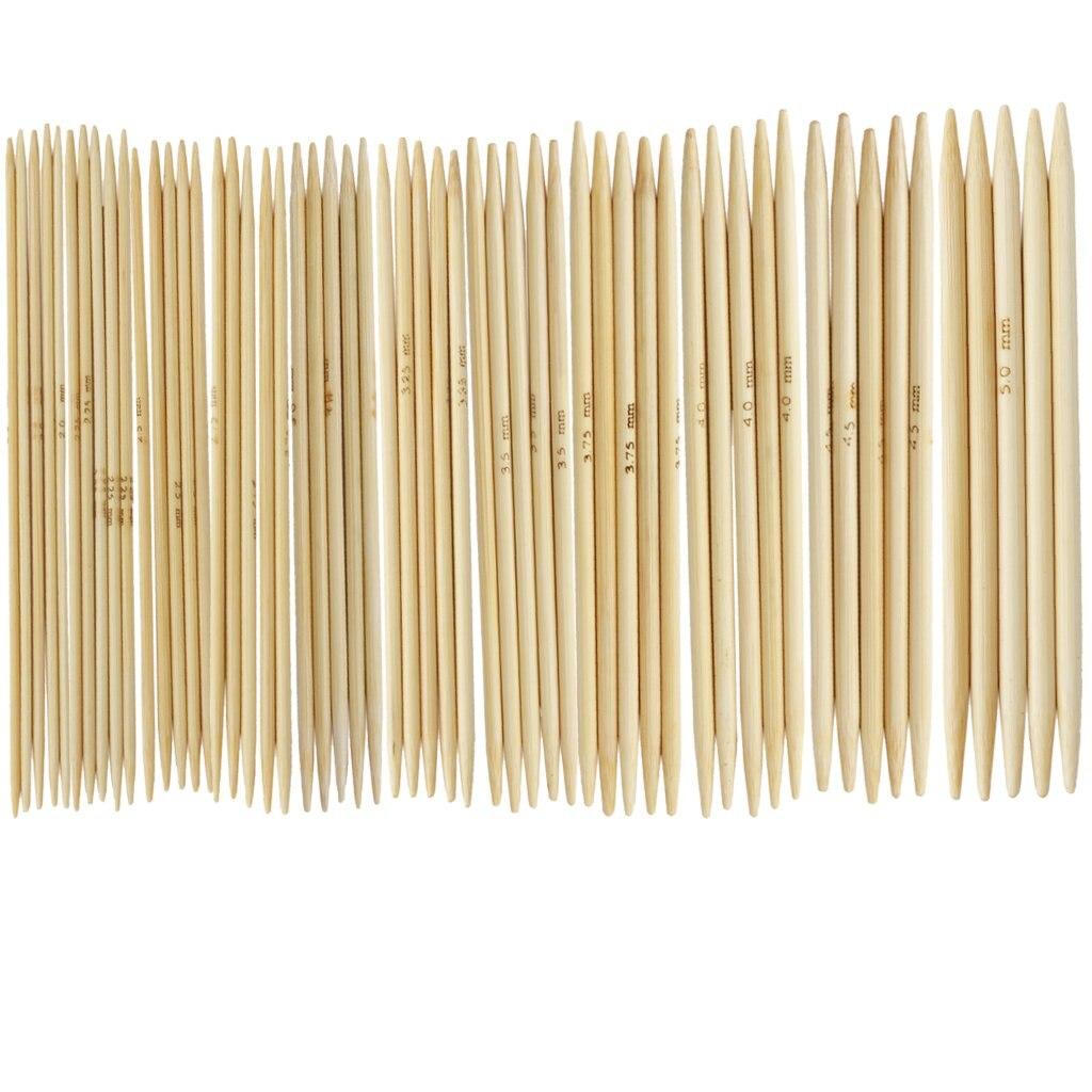 """Heißer verkauf 11 Sets 4.9 """"Bambus Gestrickt Handschuhe Stricken Nadeln 2,0-5,0mm UNS 0-8"""
