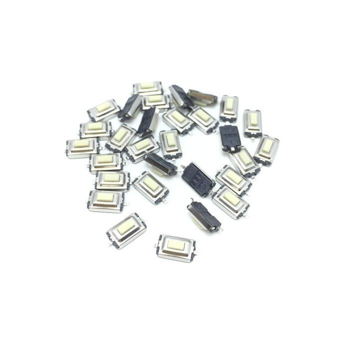 Белая кнопка SMD, 50 шт., 3*6*2,5 мм, 3*6*2,5 H, 3x6x2,5 мм
