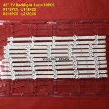 10 pièces/lot Nouveau LED rétro-éclairage barre pour 42