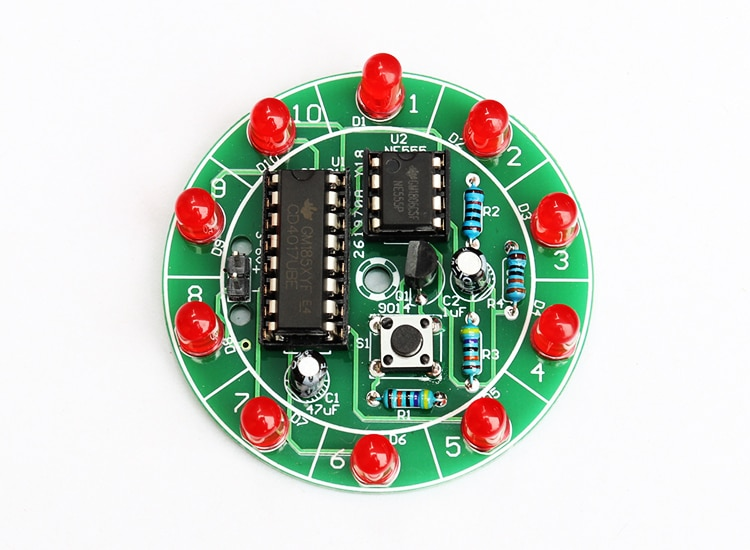 Электронный набор для самостоятельной сборки, электронный поворотный водяной светильник lucky, лотерейный набор для самостоятельной сборки, Малый производственный конкурс, Сварочная практика