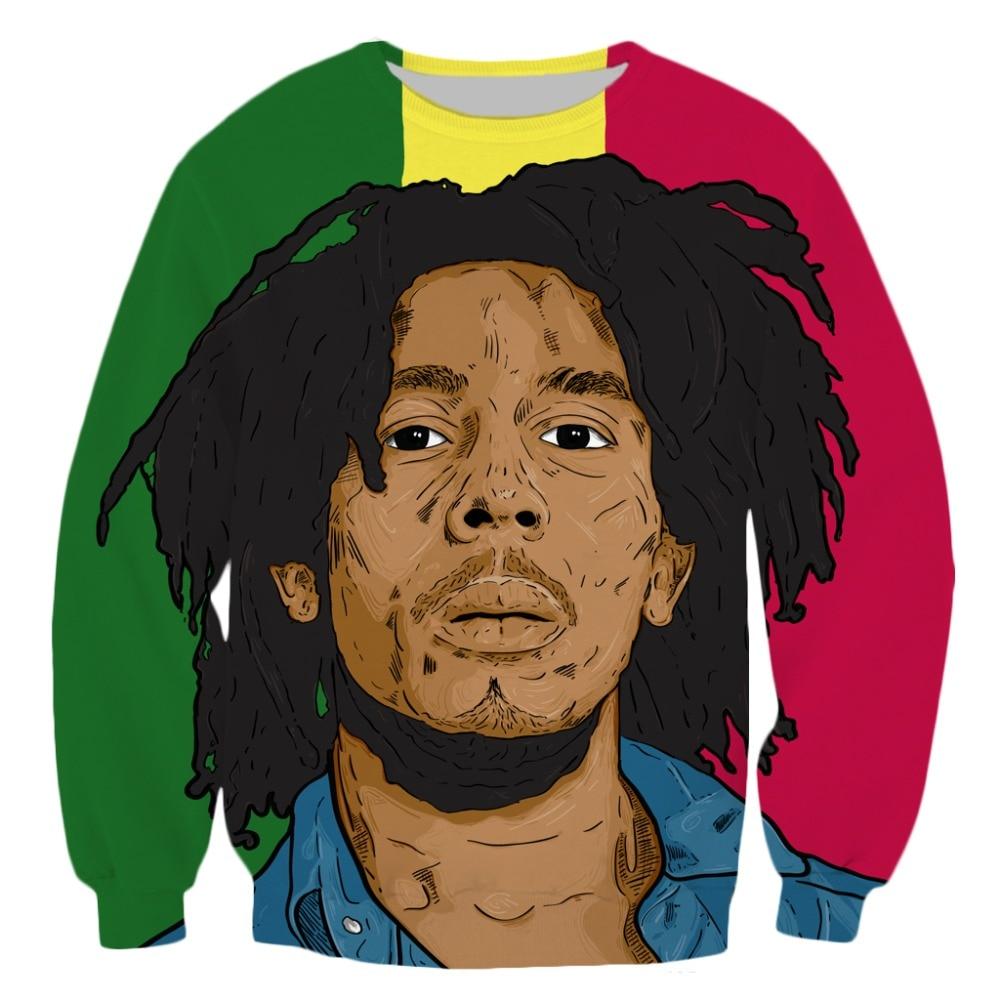 PLstar Cosmos Männer sweatshirt 3D hoodies Männer der Hemd Harajuku Druck Rock Hip Hop Bob sänger Marley Reggae Kleidung streetwear-2