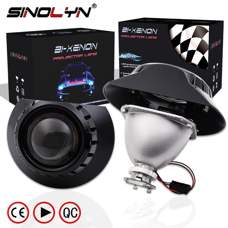 Sinolyn H7 Projector Headlight For BMW E46 Coupe Tuning 325i 328i 330Ci Wagon/Sedan Halogen Lens Min