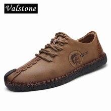 Valstone 2019 Primavera In Pelle Casual Scarpe Gli Uomini fatti a mano scarpe vintage lace up Naturale fondo In Gomma stivaletti opzionale formato 48