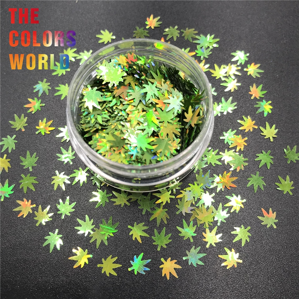 Folhas de erva daninha pote folhas 6mm prego glitter unhas arte decoração do corpo glitter tatuagem tumblers artesanato festival acessórios festa diy
