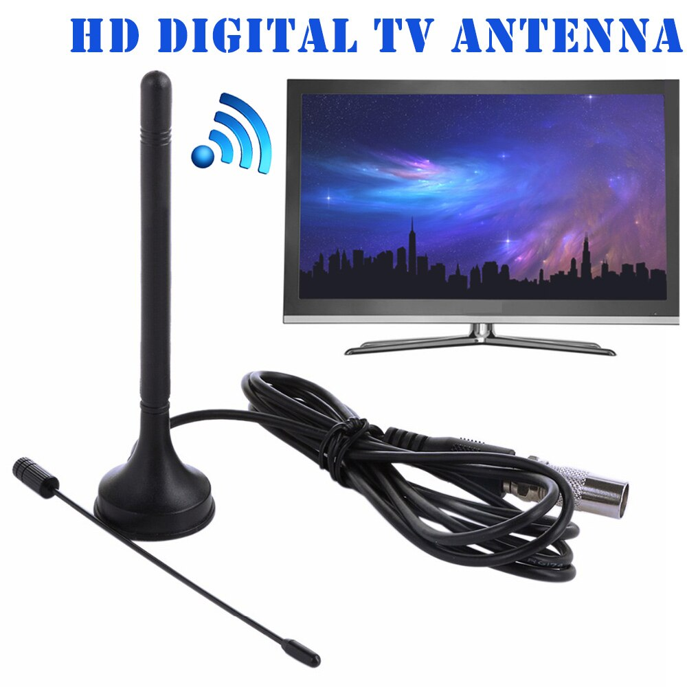 Universal interno hd digital dupla DTA-180 tv antena mini antena base magnética portátil gdeals
