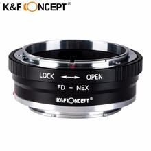 K&F CONCEPT High-precision for FD-NEX Lens Mount Adapter for Canon FD Mount Lens to Sony E mount NEX-5R NEX-6 NEX-7 Camera Body