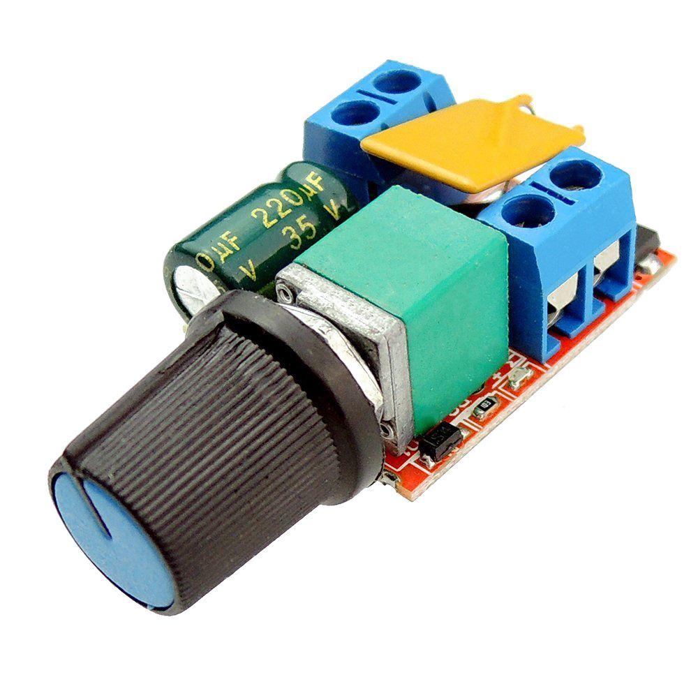 Мини DC контроллер скорости ШИМ 3V 6V 12V 24V 35VDC 90W 5a DC переключатель управления скоростью двигателя светодиодный диммер