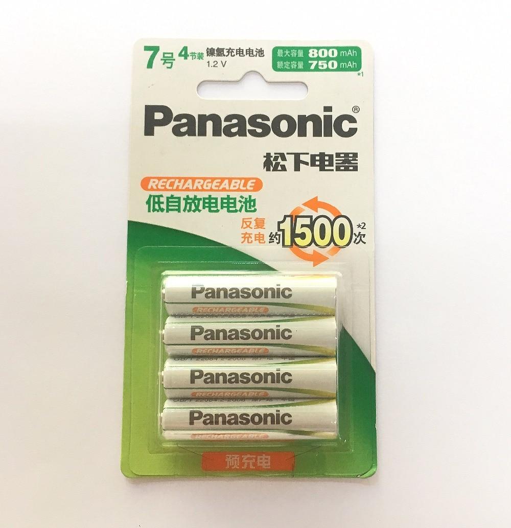 4 pçs/lote Panasonic AAA 800 mah NI-MH baterias 1500 vezes a reciclagem de Alto Desempenho Pré-carregada HHR-4MRC/4B Recarregável bateria