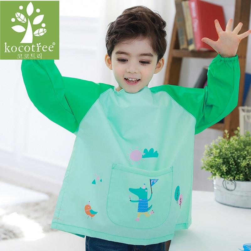 Waterproof Anti-Wear Apron Painting Drawing Coat for Children Costume Crafts DIY Paint antifouling aprons for kids Kindergarten enlarge