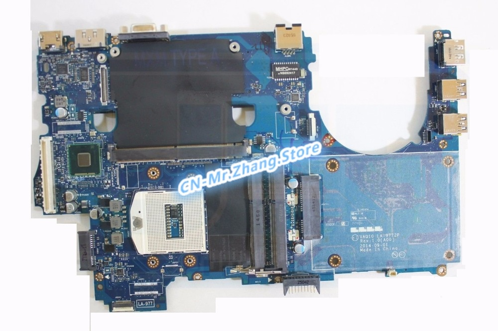 SHELI FOR Dell Precision M4800 Laptop Motherboard CN-08KWV8 08KWV8 8KWV8 LA-9772P DDR3