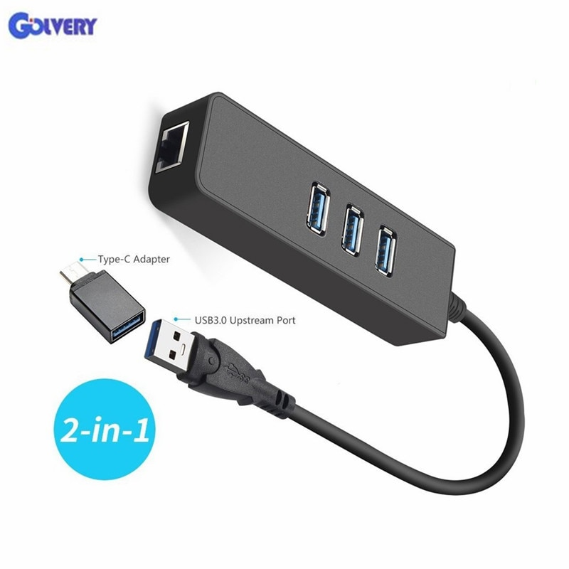 Ethernet адаптер Портативный USB 3,0 к RJ45 10/100/1000 Мбит/с сети LAN Проводной адаптер для Chromebook, MacBook, Mac Pro/Mini, iMa