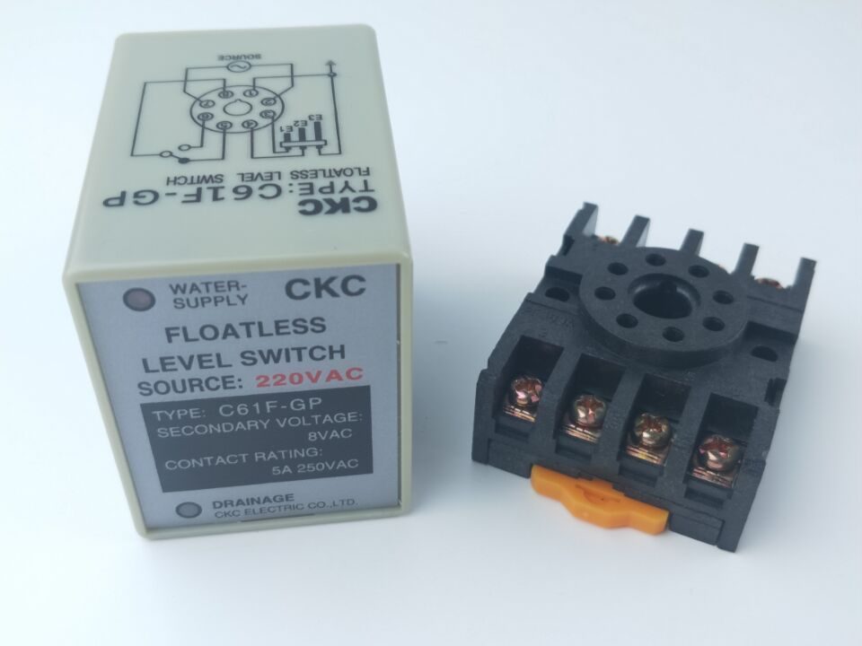 C61F-GP AC 220 V 50/60Hz 8 pines líquido sin flotador controlador de nivel con Base de enchufe