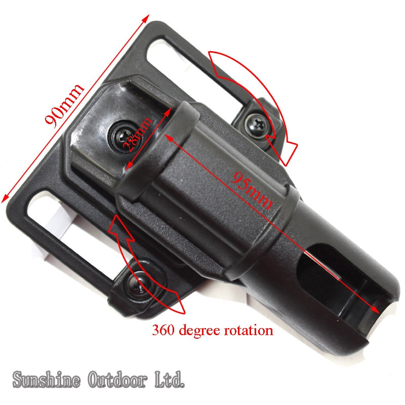 ASP batons flashlight holster can 360 degree rotation (small)