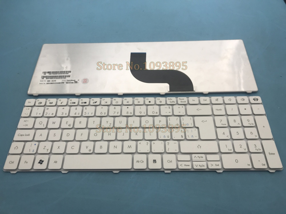 Novo teclado checo/slovak, para packard bell easynote lm98 tm01 tm05 tm80 tm82 tm83 laptop branco teclado checo