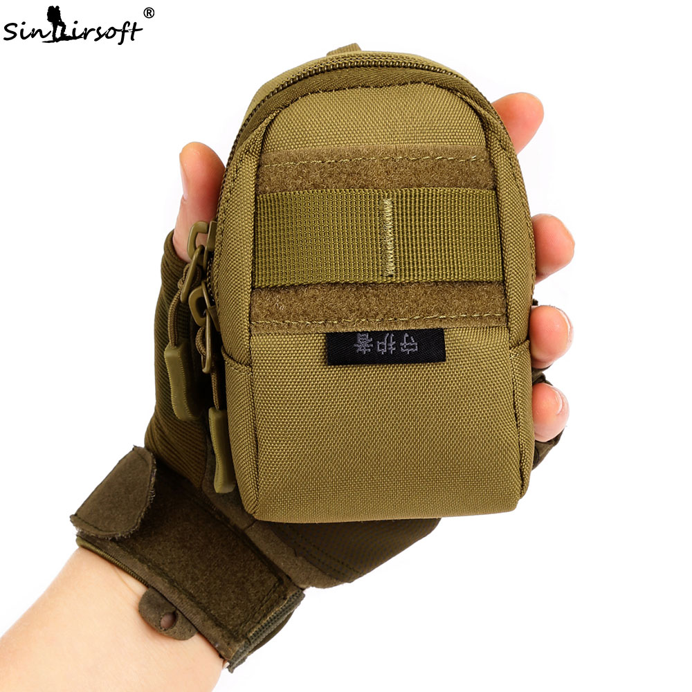 SINAIRSOFT outdoor Male female nylon bag waist bag hung wear-resistant vice package travel mobile phone accessories bag LY0035