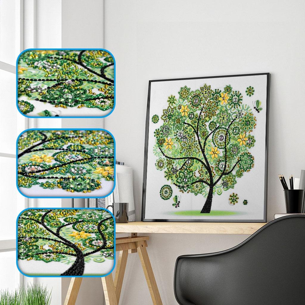 5D DIY diamante bordado Primavera Verano Otoño Invierno Flor de temporada forma del árbol forma especial DIY cristal diamante pintura