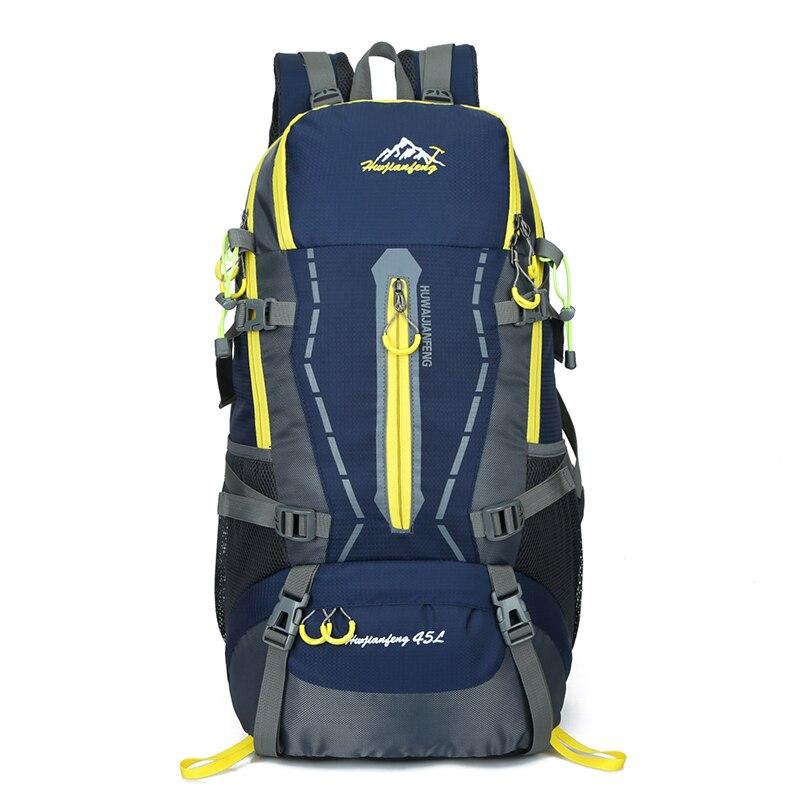 في الهواء الطلق تسلق السياحة على ظهره الرجال النساء حقيبة رياضية المشي لمسافات طويلة حقيبة السفر 45L حقائب الظهر مقاوم للماء