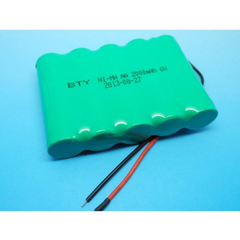 1 paquete de baterías recargables 14500 NI-MH 6V reciclables 2000mAh 14500 batería NiMH para juguetes electrónicos de linterna