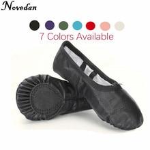 Pantoufles de Ballet professionnel semelle fendue en cuir véritable doux Ballet chaussures de danse pour filles enfant et femmes baskets de danse