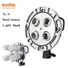 Studio Photo Godox TL-4 4in1 E27 douille tricolore ampoule lumière Speedring lampe tête multi-support appareil Photo photographie éclairage