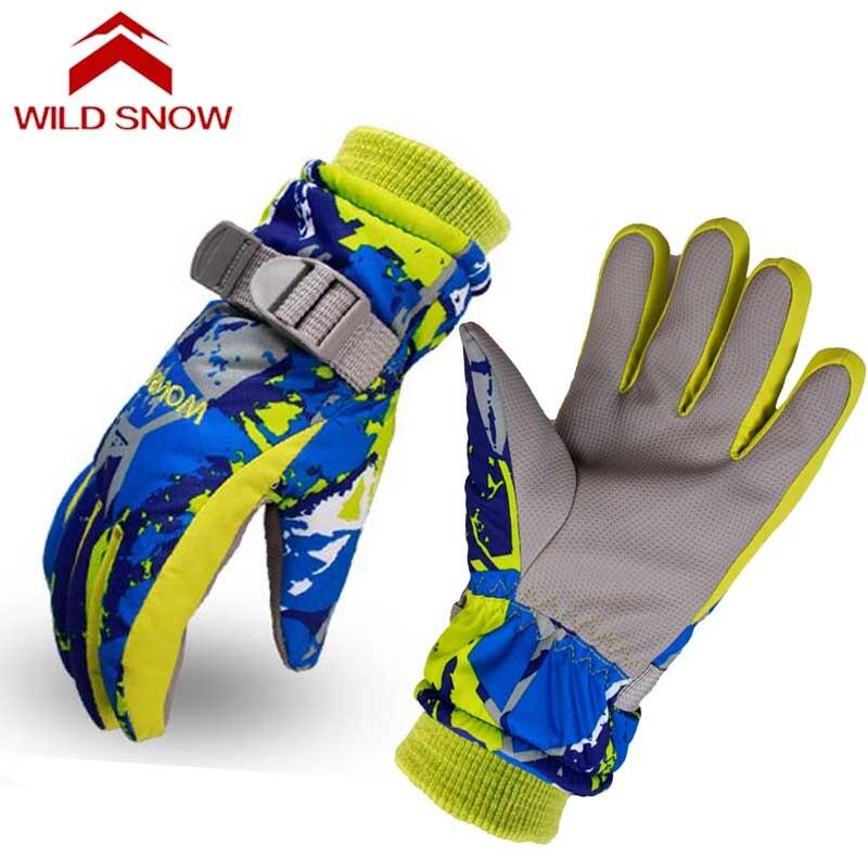 Детские лыжные перчатки, водонепроницаемые ветрозащитные перчатки для сноуборда, горные, для улицы, для мальчиков и девочек, спортивные, те...