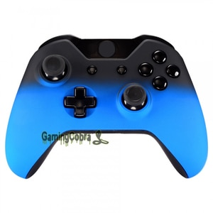 eXtremeRate Shadow Blue Soft Touch Front Housing Shell Faceplate for Xbox One Standard Controller
