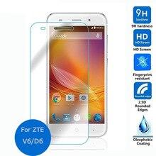 Protector de pantalla de vidrio templado 2,5 9h película protectora de seguridad para ZTE Blade X7 D6 V6 Z7 T660 T663