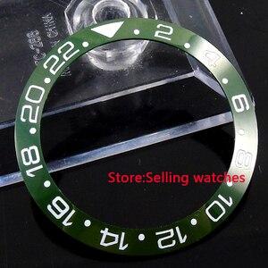 39.8mm ceramic green olive bezel insert for 43mm sub GMT mens watch