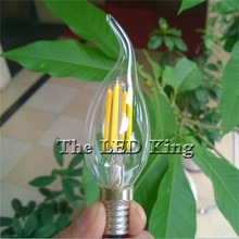 Led Edison Bulb C35 C35L Big light bulb 6W 12W 18W led bulb E27 clear glass indoor lighting lamp AC220V 230V Led Filament Bulb