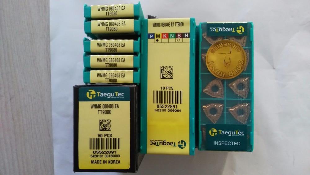 Taegutec كربيد إدراج wnmg 080408 عصام TT9080 WNMG080408EA TT9080 ل المقاوم للصدأ سبائك عالية temp P20-P40