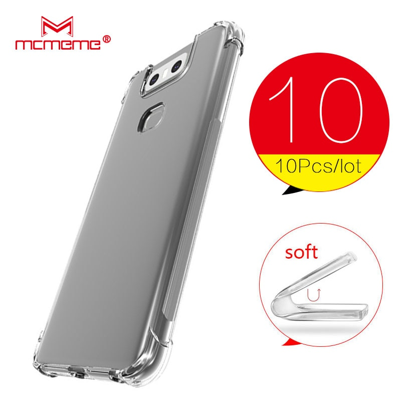 10PCS For ASUS ZenFone 6Z ZS630kl Case Soft Silicon Shockproof Bumper Phone Case for ZenFone 6Z ZS 630kl ZS630kl 6 Z Bag shell