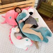 Créatif Kawaii doux licorne dinosaure Flamingo poupée animaux en peluche paresseux dormir oreiller jouets pour mignon fille amant cadeaux danniversaire
