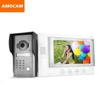 7 lcd monitor wired video intercom door phone doorbell door viewer ir night vision home security kits for villa home