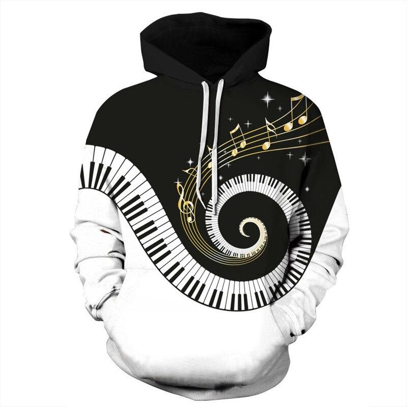 Whirling Piano 3D Hoodies Women Hoody Men Sweatshirt Hooded Jumper Coats Tracksuits Unisex Pullovers Sweatshirts Hoodie XXXL