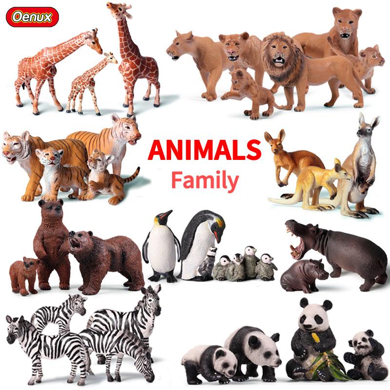 Оригинальная фигурка Африканского дикого льва Oenux, Имитация животных, тигр, слоны, фигурки сельскохозяйственных животных, модель обучающей ...