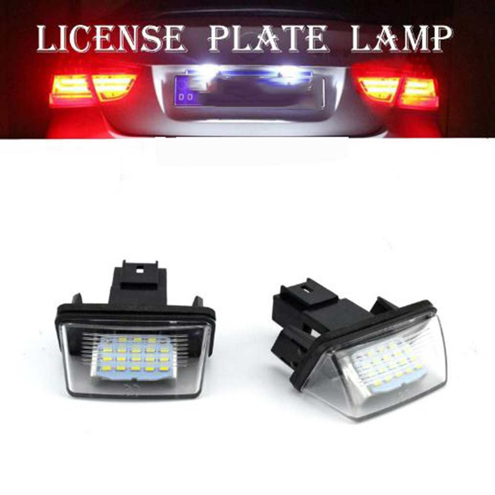 1PC Car LED License Plate Light Rear Lamp For Citroen C3 C4 C5 For Peugeot 206 207 306 307 406 407 B9 M49 M59 for SAXO I SAXO II