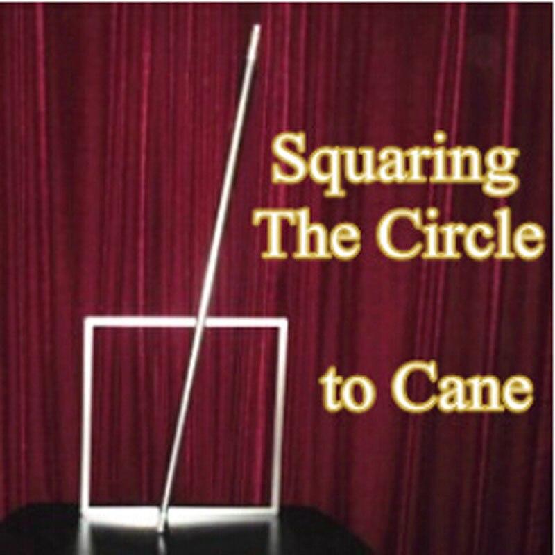Squaring The Circle to Cane (plata, acero inoxidable) trucos de Magia que aparecen Magia varita escenario ilusión accesorios para trucos
