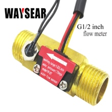 G1/2 débitmètre Hall capteur de débit deau avec détection de température métal cuivre coquille débitmètre turbine débitmètre cuivre capteur