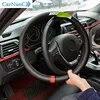 38cm skórzana ręcznie szyta osłona na kierownicę do samochodu Mercedes Benz AMG W202 CLA W212 W220 W205 W201 klasa GLA s c klasa