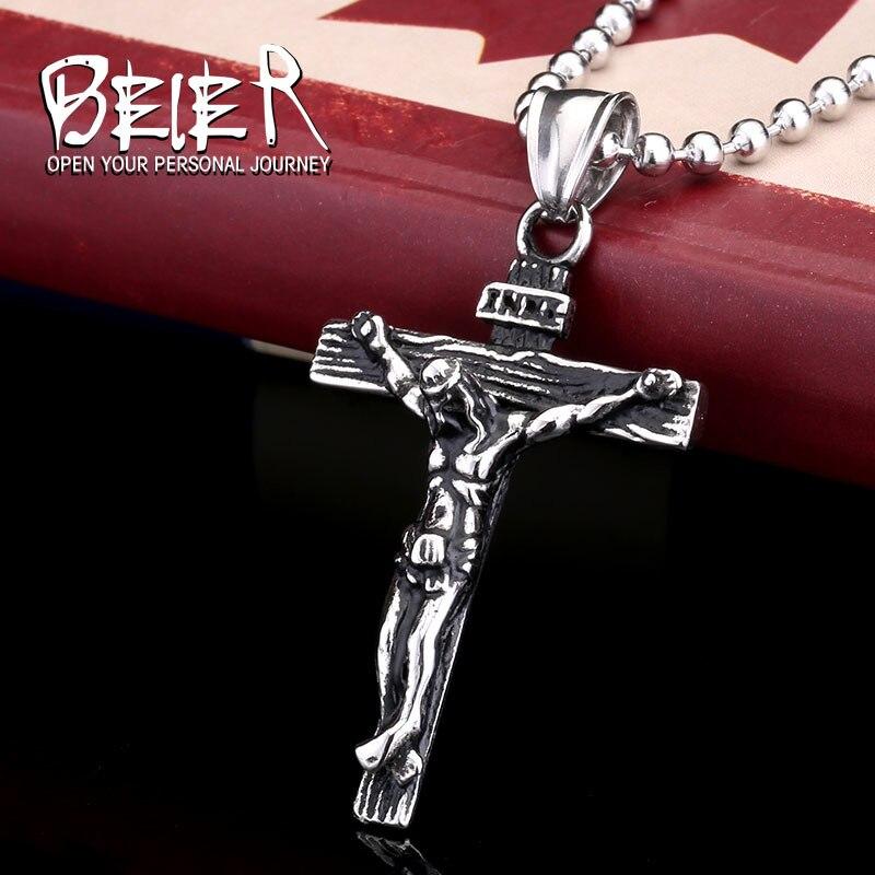 Ожерелье с кулоном Beier из нержавеющей стали, религиозный кулон из нержавеющей стали 316L, jelwery, LLBP8-083R