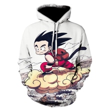 Anime Dragon Ball Z Pocket Hooded Sweatshirts Kid Goku Grow up 3D Hoodies Pullovers Men Women Long Sleeve Outerwear New Hoodie