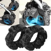 Couverture de roue de poussette 1 pièce   Accessoires de poussette, poignée de Buggy, barre à chocs, couverture de roue Anti-poussière