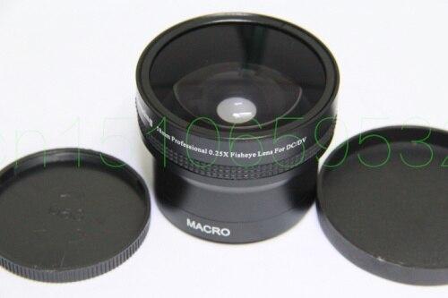58mm 0.25x ojo de pez ancho ojo de pez + 12,5 lente MACRO ángulo 58 2,0 negro