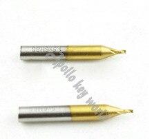 1,5 мм сверло титанизированная Концевая фреза для фрезерования ключей Вертикальный Станок для нарезки ключей, титановый фреза