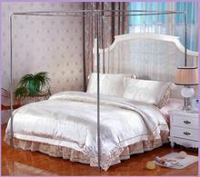 4 esquinas poste cama dosel mosquitera soporte de red 22mm-sin mosquitera