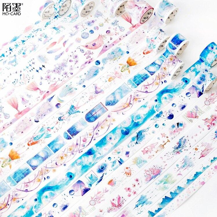 Cinta Washi decorativa para ensueño de niña Collage DIY, cinta de revestimiento para manualidades, material escolar y de oficina