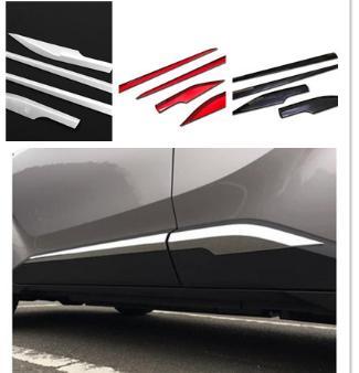 Para Toyota CHR C-HR 2016 2017 2018 ABS cromado puerta lateral cuerpo moldura cubierta embellecedor puerta lateral guarnición protectora accesorios piezas 4 piezas