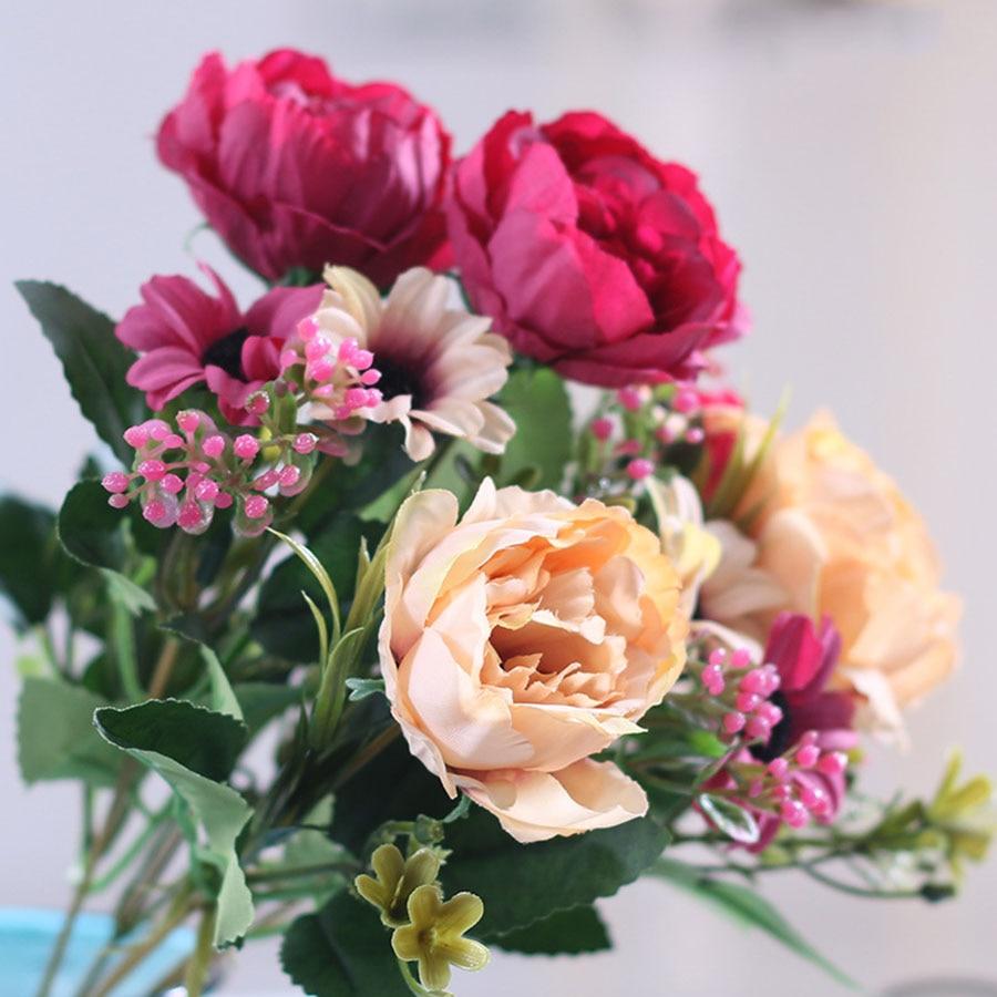 AliExpress - 30cm High Quality Peony Flowers Silk Artificial Bouquet Babybreaths Accessories DIY Small Fake Daisy Flowers  Wedding Home Decor