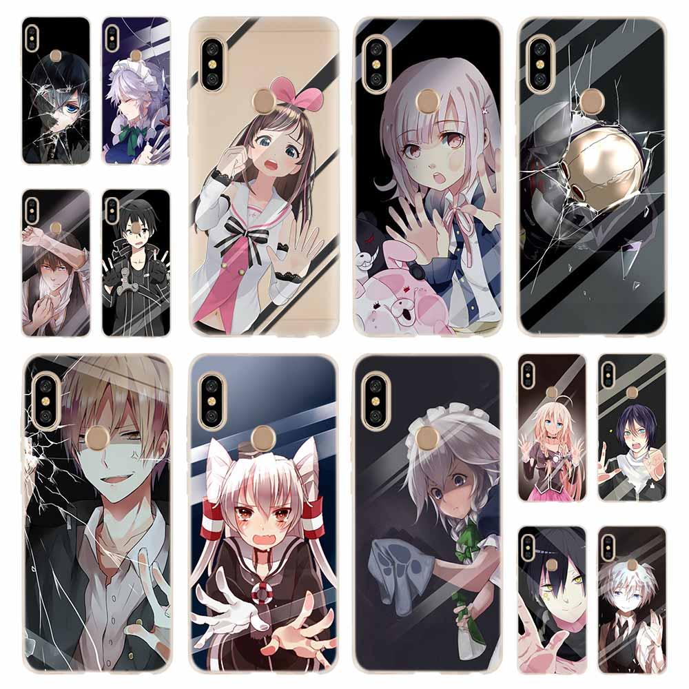 El anime japonés chica táctil de vidrio kawaii funda de moda para Coque Xiaomi Redmi 9a 8a 7a 6a 5a Nota 9 8 7 6 5 Pro 8t y3